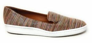 Andre Assous Womens Classic Slip On Flat Shoes Multi Stripe Leather Size 8 M US