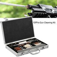 126pcs Gun Cleaning Kit Universal Rifle Pistol Shotgun Firearm Maintenance US