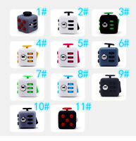 Fiddle Fidget Cube Spinner Dice Kids Toy Adults Anxiety Stress Relief 3D 6-Side
