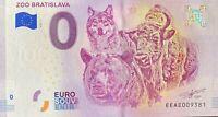 BILLET 0  EURO  ZOO BRATISLAVA   SLOVAQUIE  2018  NUMERO DIVERS
