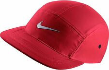NUOVA linea uomo NIKE aw84 Windrunner cinque 5 Pannello Rosso 3M RUNNING CAP HAT OS 876077 657