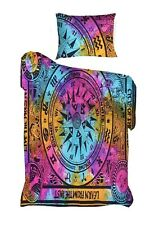 Cycle Of The Ages Multi Color Bedding Twin Size Duvet Cover Indian Handmade Art