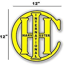 "12"" INTERNATIONAL IH YELLOW - HIT AND MISS GAS ENGINE TRACTOR STICKER"