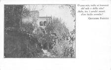 3116) CASTELVECCHIO (BARGA, LUCCA) CASA DIPASCOLI, ZANICHELLI BOLOGNA.