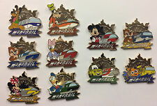 Disneyland 2017 MONORAIL Mystery Disney 10 pin Set with 4 Chasers LE 400