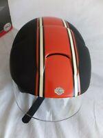 Bell Harley Davidson Matte Black & Orange Rally Extra Small Open Face Helmet