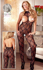 Women's Sexy Lingerie Open Bust Crotchless Body Stocking- Mandy Plus Size Erotic