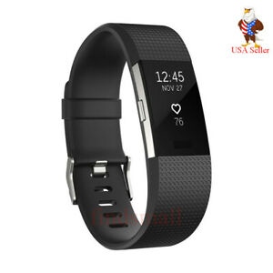 Fitbit Charge 2 Heart Rate Monitor Fitness Tracker Wristband & All Colour