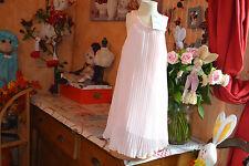 robe marese couture 5 ans neuve toute plissee rose poudree tres belle **