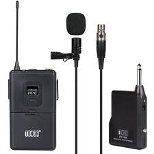 VHF Wireless Lavalier Lapel Microphone Mic Set W/ Transmitter Receiver for Speak