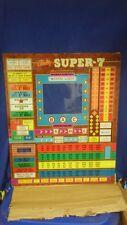 Bally Super 7 Bingo machine back glass NOS