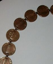 "Womens Copper Penny Bracelet 8.5"" Made in USA"