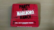 Marlboro Cigarettes Party at the Ranch Matchbook