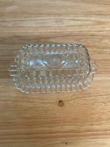 Vintage  Clear Glass Butter Dish With Lid Holds 1/4lb Stick
