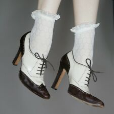 90s manolo blahnik brown and white lace up leather oxford heels sz 40 EU 9.5 US