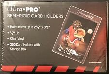 200 ULTRA PRO SEMI RIGID CARD HOLDERS BRAND NEW FACTORY SEALED