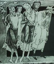 David Morning, 12th Century English Illumination, Magic Lantern Glass Slide