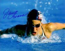 Signed 8x10 JANET EVANS USA  Autographed photo - w/COA