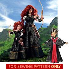 SEWING PATTERN! MAKE MERIDA COSTUME! BRAVE~DISNEY PRINCESS! VAMPIRE GOWN~DRESS!