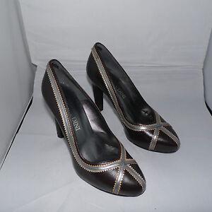 High Heels Damenpumps Pumps Schuhe braun Größe 35+36+41 NEU Leder