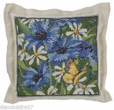 Permin Kit Broderie Point de Croix Compté Fleurs Bleuets - Counted cross stitch