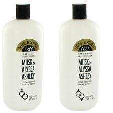 2 x Alyssa Ashley Musk Body Lotion 25.5 Houbigant Women LOT
