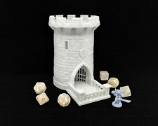 "5"" Dice Tower, Castle, Dice Roller, Dice Tray, DnD, RPG, ""Stone"" Color 3d Print"