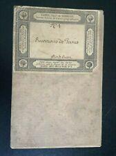 Ancienne carte géographique Lanée Longuet Environs de Paris