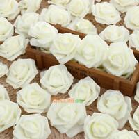 50x Schaumrosen Kunstblumen Kunstrose Rosenköpfe Künstliche Rosenblüten Hochzeit