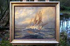 Georg Seyler (1915-1998 ) maritimes Ölgemälde Segelschiff  Künstlerarbeit