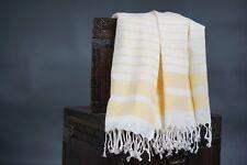 Turkish bath towel, beach cover/towel, spa towel,100 percent cotton, YELLOW