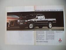advertising Pubblicità 1991 MITSUBISHI L200 L 200 CLUB CAB