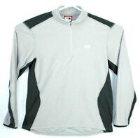 The North Face Men's XL X-Large 1/4 Zip Running Jacket Black Gray Zip Pocket