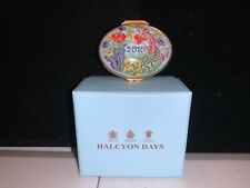 Halcyon Days Enamels Year Box 2010 New In Box Enamel Box
