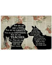 Border Collie And Girl You Are Not Just A Dog Poster Art Print Decor Home