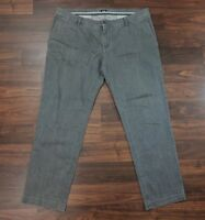 D&G Dolce & Gabbana Mens Jeans Straight Leg Gray Denim 42 x 32