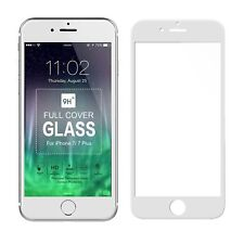 White Full Cover Tempered Glass 3D Curved Screen Protector For iPhone 8 Plus