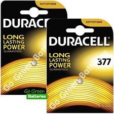 2x Duracell 377 1.5V Silver Oxide watch battery SR66, SR626W, D377, D376, V377