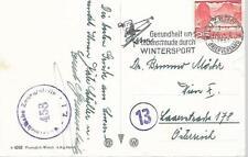 1951 SWITZERLAND 25c  POSTCARD  OSTERREICHISCHE ZENSURSTELLE VIOLET CANCELS 170
