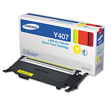 Genuine Samsung CLT-Y407S 1000 Page Yellow Toner for CLP320, CLP325, CLX3185