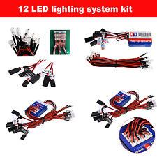 12 LED Lights Steering System Lighting Kits for TAMIYA TT-01 SCX10 CC01 RC Car