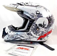AFX FX-17 Off Road Motorcycle Helmet - White Skull NEW