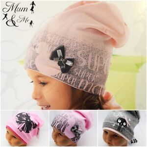 Kids Girls Hat Toddler Cap Spring Beanie Cotton Pull On Hat Autumn Single Layer