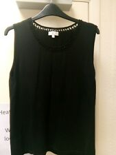 CC black evening vest top sz L