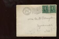 US Mid-West Cover 1908 Fort Dodge, Iowa (Good Flag Cancel) to Sycamore, Illinois