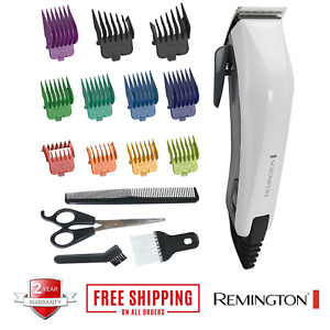Remington Colour Cut Mens Corded Electric Hair Clippers Trimmers Head Shaver Kit