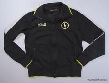 Ralph Lauren Polo Sport Men's Pique Track Jacket size Small Black/White/Yellow
