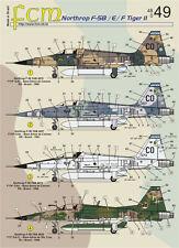 Northrop F-5 B/E/F FCM Decals 48049 1/48 US Marines and Brazilian Air Force