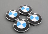 New Genuine BMW Set Of Wheel Center Hub Caps 68mm (4Pcs) 6783536 OEM