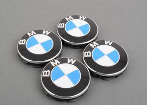 Neuf Véritable BMW Set De Centre de Roue Moyeu Capuchons 68mm (4Pcs) 6783536 OEM